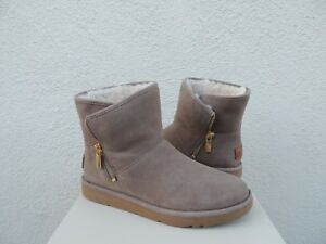 24868e2771d29 Details about UGG LUXE KIP CLAY SUEDE SHEARLING ANKLE ZIP BOOTS, WOMEN US  11/ EUR 42 ~NIB