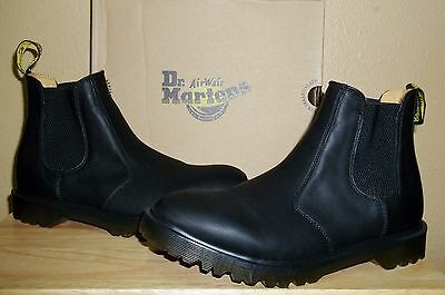 DR MARTENS 2976 Black Aged Greasy Leather Men's Chelsea Boots New NIB US 11,12
