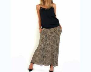 Women-Long-Maxi-Leopard-Animal-Print-Skirt-Stretch-Cheetah-Skirt-with-Pockets