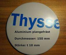 Ronde aus Aluminium plangefräst AlMg3 Blech, 150 x 10 mm foliert, Aluscheibe