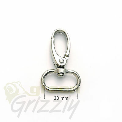Bag Clasps Lobster Swivel Trigger Clips Snap Hook suitable for 20 mm strap