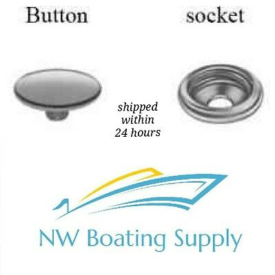 CANVAS SNAPS STAINLESS STEEL SS SNAP SS SOCKET 25 SETS MARINE GRADE NEVER RUST