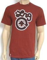 Lrg Classic Logo Graphic Tee Mens Maroon Red Crew T-shirt 100% Cotton
