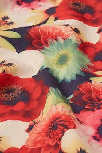 TOPSHOP Multi Bouquet Floral Cover Up Tunic Top Dress Size M 12 14 FREE P/&P AH