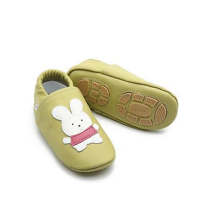 Pantofole's Baby Scarpe Pantofole Liya Turnschläppchen - #615 Coniglio Verde Beige-n - #615 Hase Grünbeige It-it