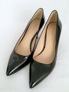 New-BCBG-Womens-Black-Patent-Leather-Classic-Pointed-Toe-Pumps-Size-8-5M-NO-BOX