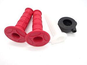 22mm-Red-Twist-Throttle-Hand-Grips-Tube-Housing-50cc-140cc-ATV-Dirt-Pit-Bike