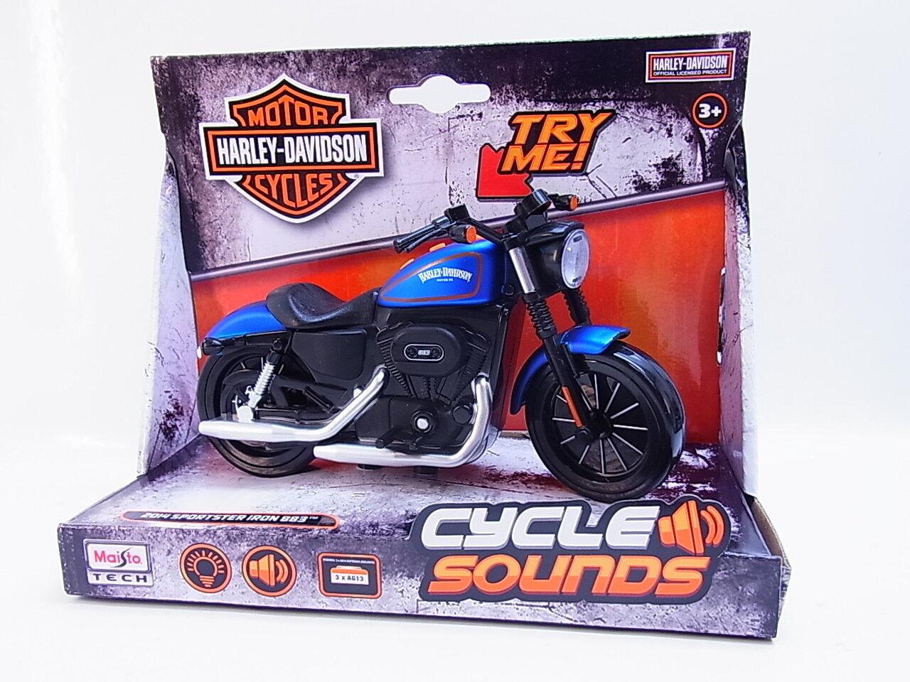 53159 Maisto Harley-Davidson Sportster Iron Motorrad Sound Licht 16cm NEU OVP