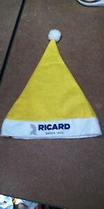 RICARD-BONNET-DE-NOEL-ETAT-NEUF-40-CM-DE-HAUT-JAUNE-BLEU-BLANC