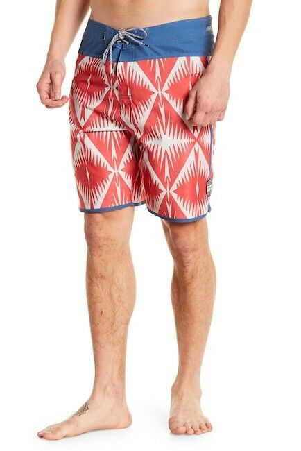 NWT Men's Rip Curl 38 Board Shorts Mirage Blends Red bluee Hawaii