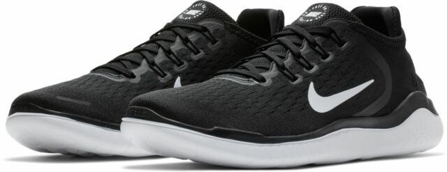 the latest cece3 8622c Nike Free Run RN 2018 Mens 942836 001 Black White Running Shoes Size 9 -  $100
