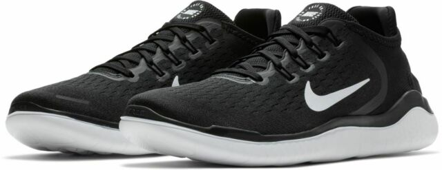 the latest d7141 2249f Nike Free Run RN 2018 Mens 942836 001 Black White Running Shoes Size 9 -  $100