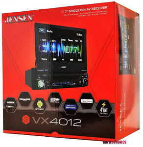 jensen vx4012 single din bluetooth dvd car stereo receiver. Black Bedroom Furniture Sets. Home Design Ideas