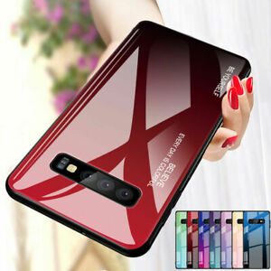 For-Samsung-Galaxy-S10-Plus-S9-S8-Gradient-Tempered-Glass-Case-Hybrid-Hard-Cover