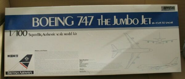 1/100 Doyusa Boeing 747 Jumbo Jet British Airways Et Pan Am Decal Option