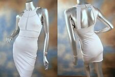 NEW GUESS JEANS bodycon stretch sheer panels open back cocktail party dress XS