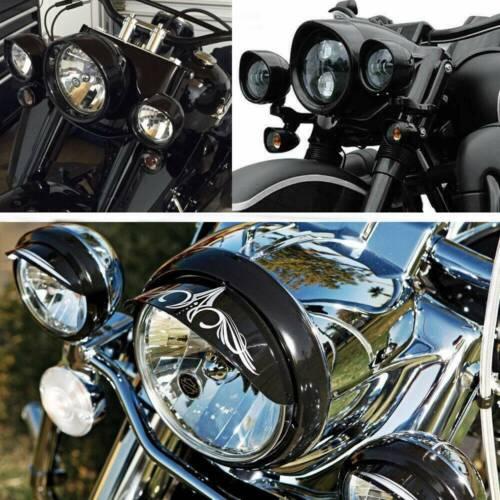 """4.5/"""" Passing Light Trim Lamp Decorate Visor Ring Cover For Harley 7/'/' Headlight"""
