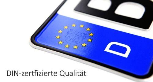 2 Standard PKW EU Kennzeichen 520x110mmAutokennzeichenNummernschilder