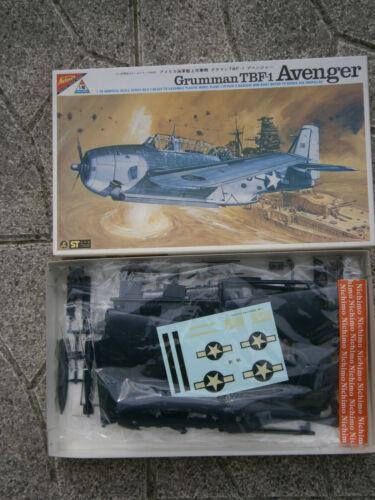 ANCIENNE MAQUETTE AVION GRUMMAN TBF-1 AVENGER NICHIMO 1//48-1:48 MADE IN JAPAN