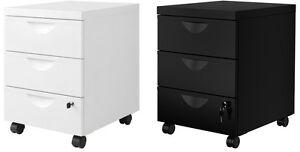Ikea Ufficio Stampa : Ikea erik metal home office filing drawer unit on castors lock