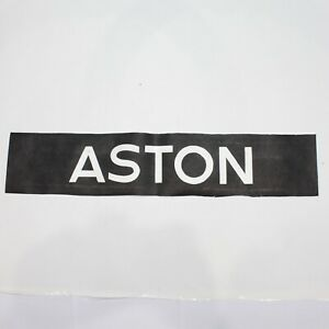 Aston-bus-blind-destination-vintage-screen-printed-tyvek-Birmingham