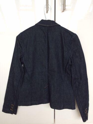 S New Xs Jacket Blue Dark Nwot Theory Small Jean Blazer Denim RS7wP0