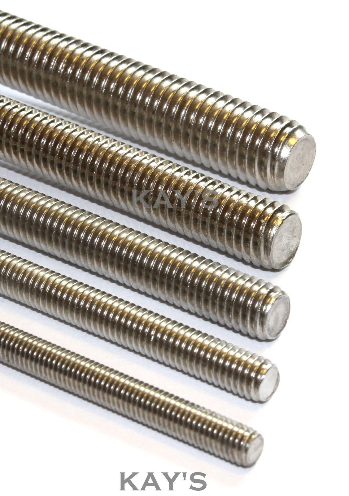 FULLY THREADED ROD BAR STUDDING ALLTHREAD M2.5,3,4,5,6,8,10mm A2 STAINLESS STEEL