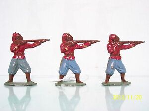 FRANCE LEAD (3) 55MM J.F. FRENCH ZOUAVES STANDING FIRING EX