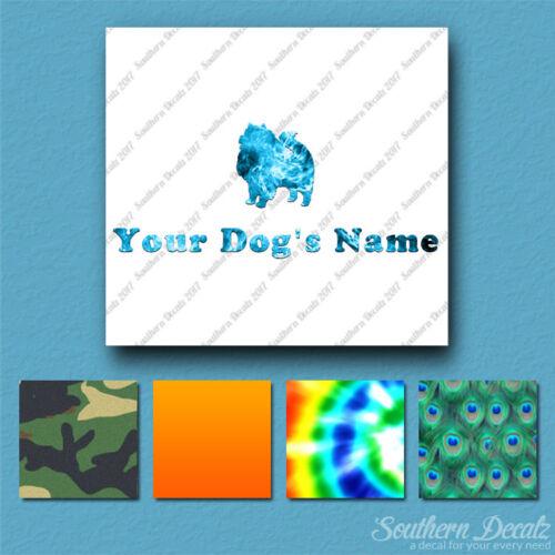 6 polices Custom KEESHOND DOG Nom Autocollant Sticker 25 Imprimé remplit