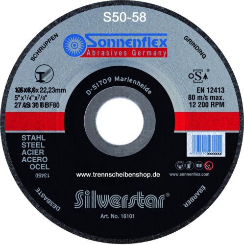 1x Schruppscheibe 125 x 4x22,2 Sonnenflex Schruppscheiben Stahlbearbeitung allg.
