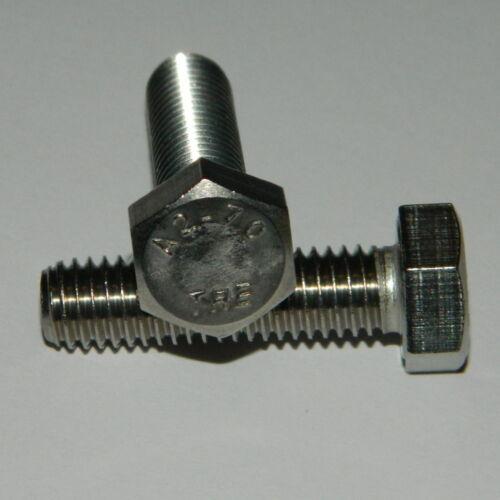 50 Edelstahl  Sechskant Schrauben  M8x30  A2  V2A