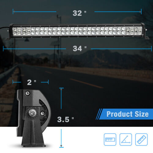 420W 32inch LED Light Bar Spot Flood Combo for Jeep Tractor ATV 4WD Offroad 34/'/'