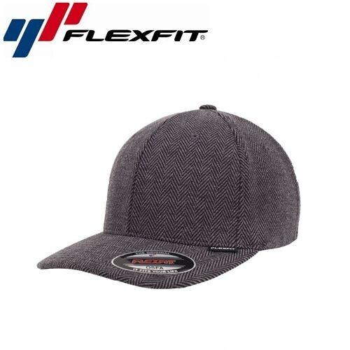 Flexfit Heringbone chiné Baseball Cap L//xl Noir Gris