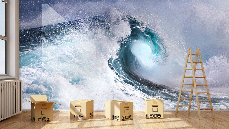 3D Natur Meereswellen 8 Tapete Wandgemälde Tapete Tapeten Bild Familie DE Summer