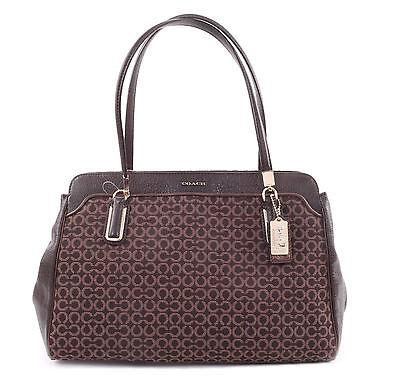 Coach 25213 Madison Kimberly Carryall Op Art Shoulder Tote Handbag MSRP $358