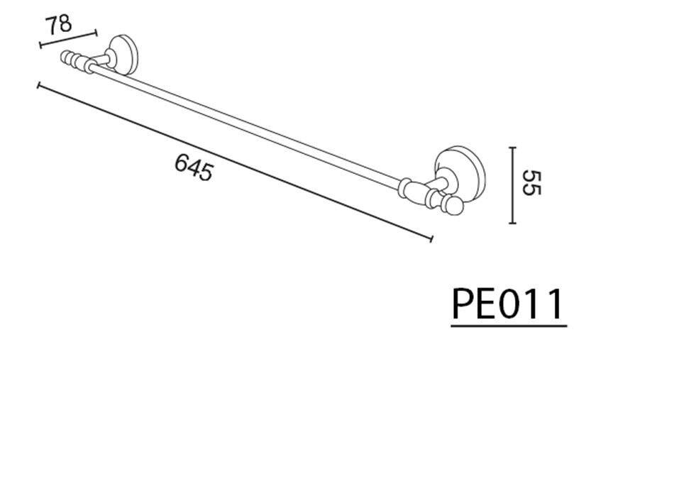 Handtuchhalter RoséGold PERLA-Serie Messing Retro 645x78mm 645x78mm 645x78mm 3efaa0
