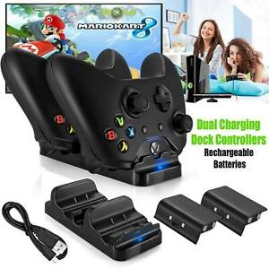 For-XBOX-ONE-Dual-Charging-Dock-Station-Controller-Charger-Rechargeable-Battery