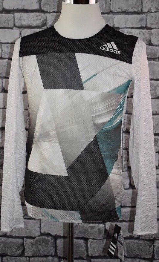 Adidas adizero Climalite Long Sleeve Running Jersey Men's- Model AJ4987 MSRP