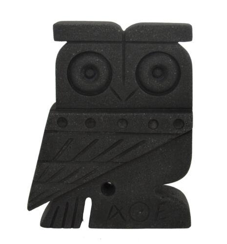 Owl of Athens flat figurine Symbol of wisdom and Goddess Athena Santorini