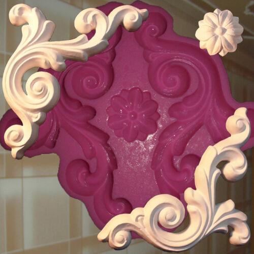 Stucco angolo GOMMA negativo forma stampo gesso in rilievo ornamento a soffitto 87