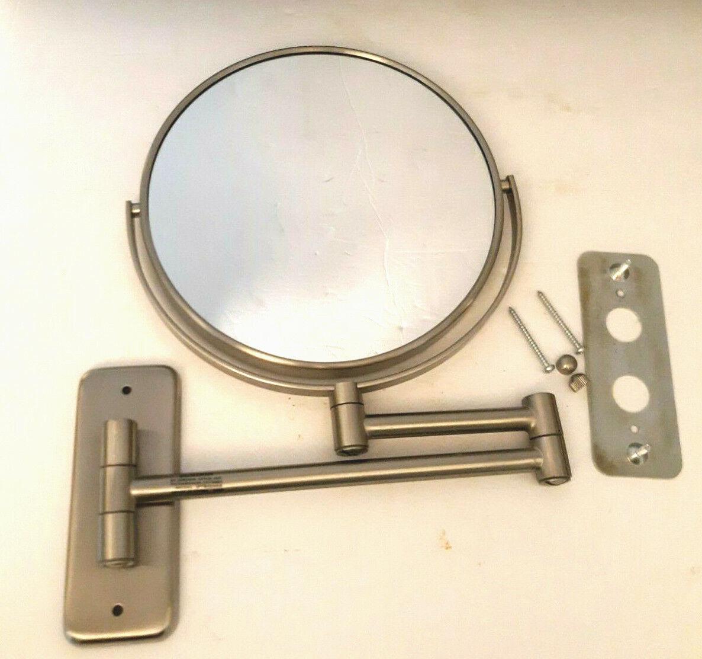 Jerdon Wall-Mount 8X/1X Magnifying Swivel Mirror Silver Nickel 8