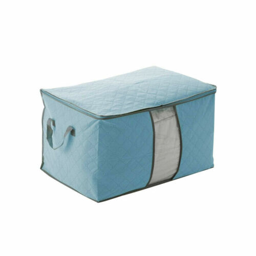 Foldable Quilt Blanket Zipper Large Non-woven Clothes Storage Bag Organizer Box