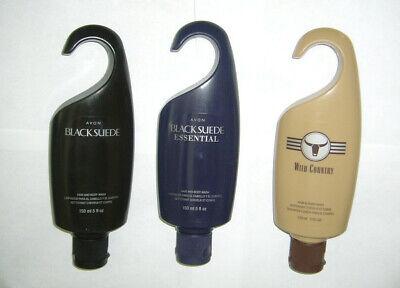 Avon Black Suede Sport Hair and Body Wash 5 fl oz Shower