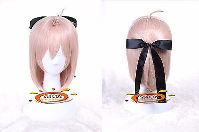 Fate//Grand Order FGO Souji Okita Sakura Saber Cosplay Wig Cosplay Costume Hair