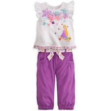 DISNEY STORE RAPUNZEL TEE TOP & PANTS SET NWT BABY 18/24 MOS NICE DETAIL