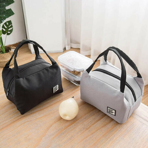 Adult Kids Portable Lunch Bag Insulated Thermal Cooler Box~Carry Tote Travel Bag