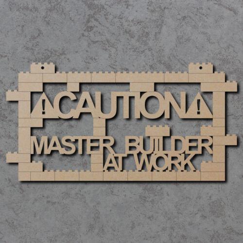 Wooden Laser Cut mdf Craft Blanks Master Builder At Work Sign