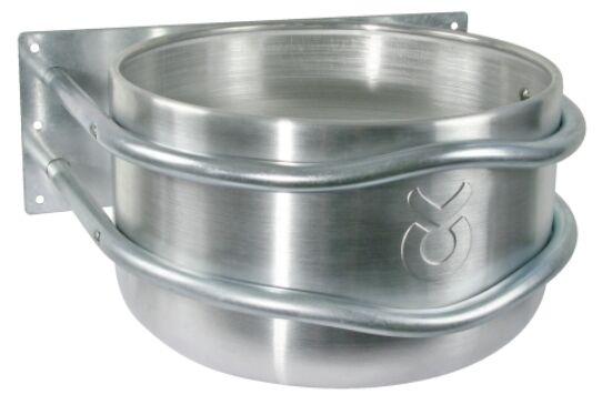 Aluminum Feeding Trough round Approx. 18 Litre 44 x 38 x 23 Cmtrog Horse Trough