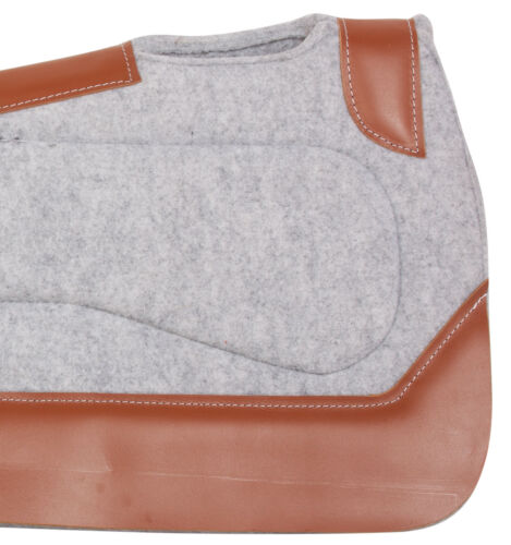 WESTERN FELT ROPING NON SLIP WOOL THERAPEUTIC THICK HORSE SADDLE PAD