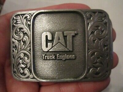 Construction ♈PWT3 CAT CATERPILLAR Belt Buckle ♈ pewter yellow color Great gift